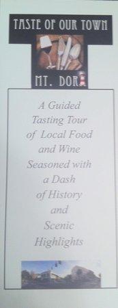 Taste of Our Town Mount Dora: Flier front