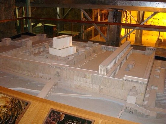 The Western Wall Tunnels : The model of the Temple.
