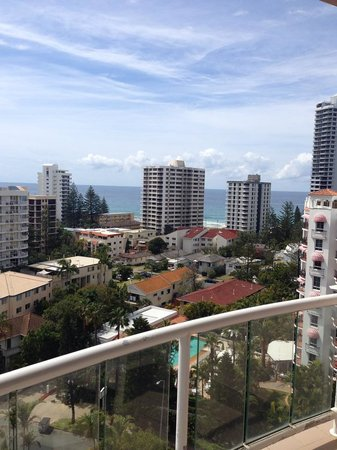 Crowne Plaza Surfers Paradise: View from the balcony - 9th floor