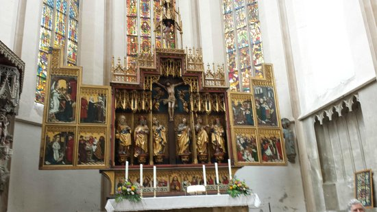 St. Jacob's Church (St. Jakobskirche): Twelve Apostles altar, and see those windows!