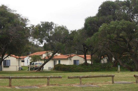 هافانا فيلاز: looking back to Villas 100 metres from beach