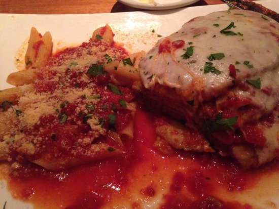 Davinci: Eggplant Parmesan, not on the menu but a request they are willing to accommodate