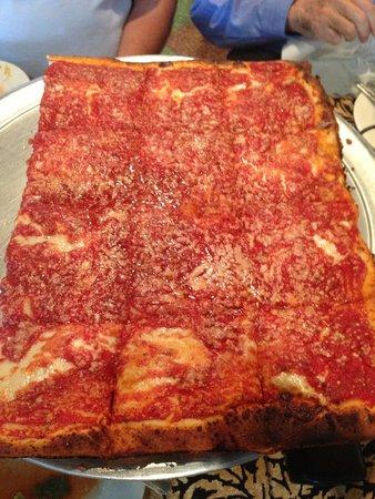 Best Sicilian Square Pizza Picture Of L B Spumoni Gardens Brooklyn Tripadvisor