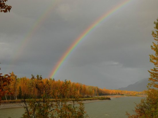 Hurricane Turn: Double rainbow over the Big Susitna River