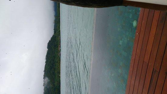 Île privée de Song Saa : veiw from our overwater villa