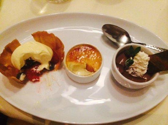 Mistral: Trio of Desserts