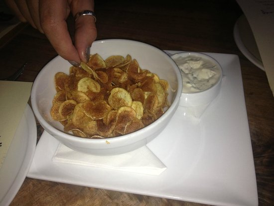Bluebeard : Tiny little fingerling potato chips and dip-- delicious!