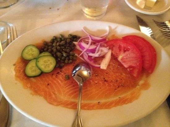 Gibsons Bar & Steakhouse: house cured citrus salmon