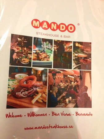 Mando Steakhouse & Bar: Buku Menu