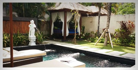 Balibaliku Beach Front Luxury Private Pool Villa: Pool area