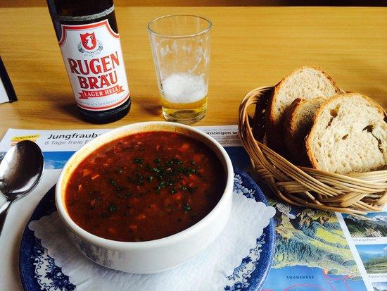Berggasthaus Mannlichen : ゴーラッシュスープ