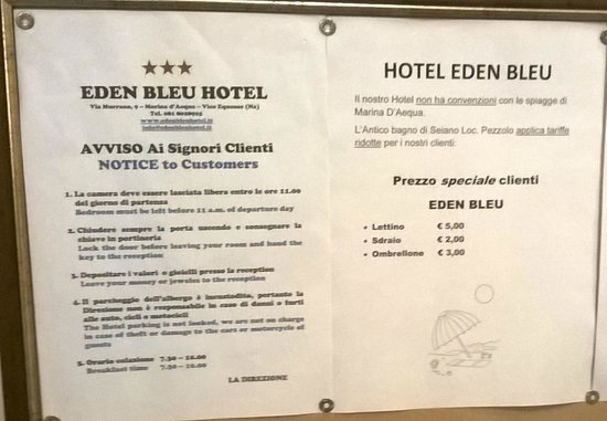 Eden Bleu: Information