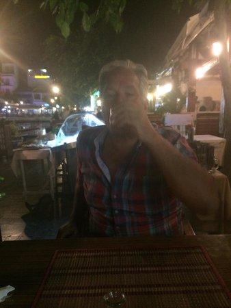 Blue Lagoon: Enjoying after dinner drink