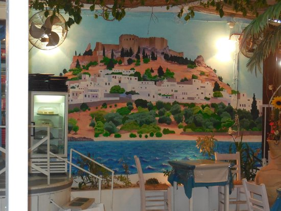 Oasis Restaurant : Mural on the wall