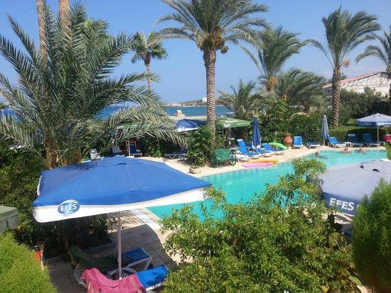 Topset Hotel: uitzicht zwembad