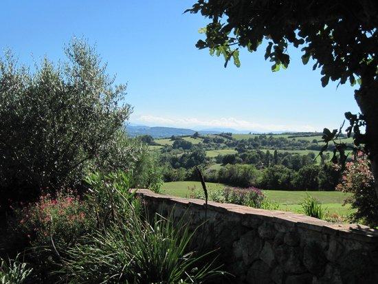Manzac d'en Bas: View south from the terrace