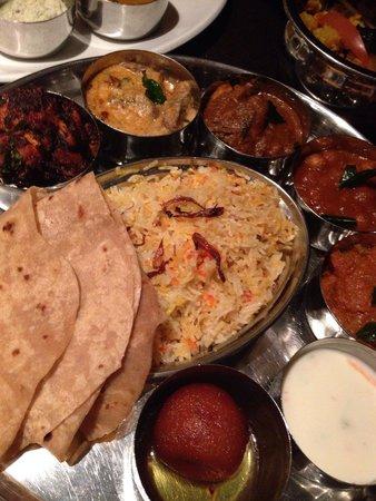 Chettinad Restaurant: Thali :)