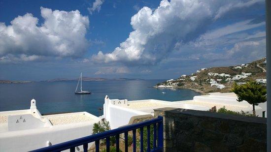 Mykonos Grand Hotel & Resort : Aussicht Zimmer 215 und 216