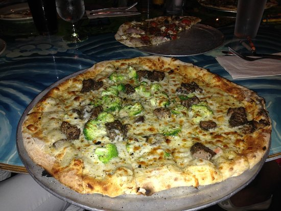 Flatbread Company: Great Flatbread (Pizza) of the Day, with beef and broccoli!!