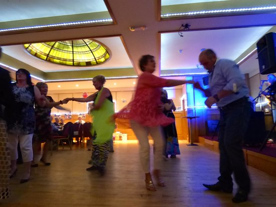 Dancing at the Cross square Hotel