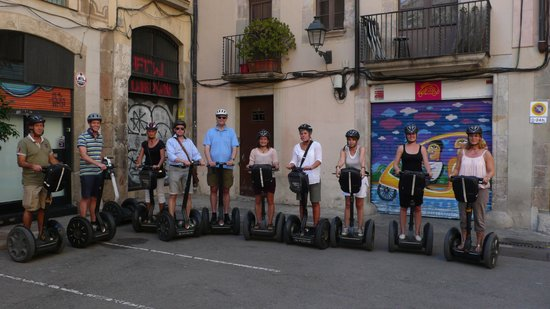 Barcelona Segway Glides : Before starting the Segway tour