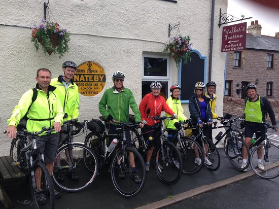 Nateby, UK: Preparing for the cycle up to Tan Hill highest Inn in England
