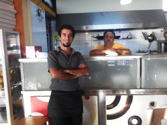 ‪‪Katoi‬: Introducing Nik the TIP TOP owner/chef with his assistant Spiros the waiter.‬