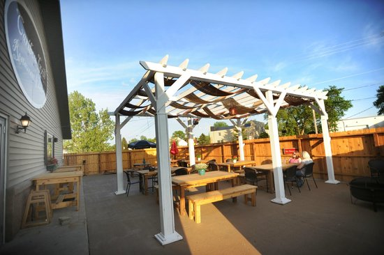 "Hallock, MN: The ""Caribou Cabana"" outdoor patio"