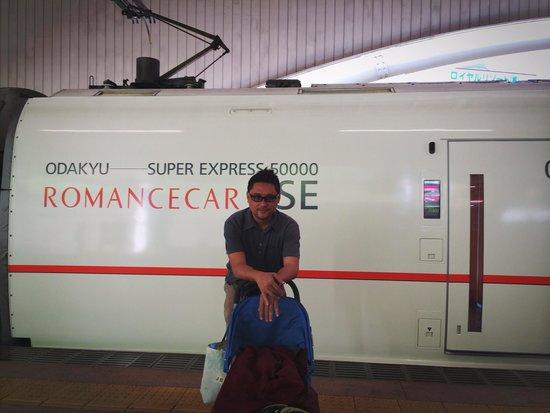 Odakyu Limited Express Romancecar : The train