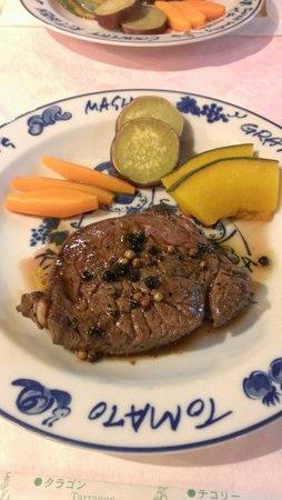 Pension Tefutefu: お肉も柔らかくて美味しい。味付けはシンプルに粒胡椒。