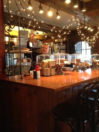 Matchbox Cafe: Sam behind the counter
