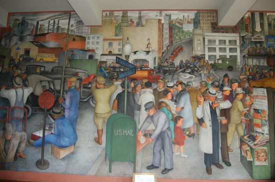 Coit tower interior murals picture of coit tower san for Coit tower mural