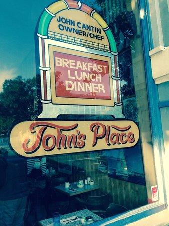 John's Place Restaurant: The window