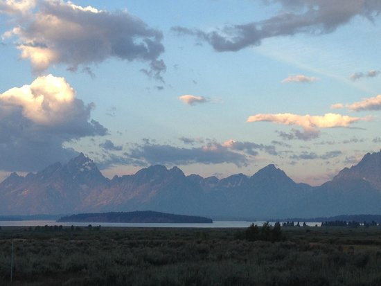 Jackson Lake Lodge : This is the view when you sit up in bed in the View Cottages.