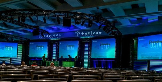 Washington State Convention Center: A large conference room with multiple displays