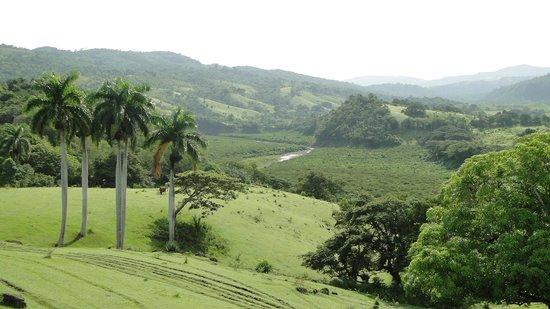 Granma Province, Cuba: Paisaje de la Finca Media Luna, en Guisa