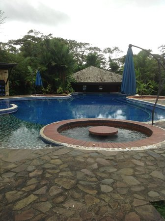 Rio Celeste Hideaway Hotel: Pool and umbrellas for Jacuzzi when it rains it was still nice