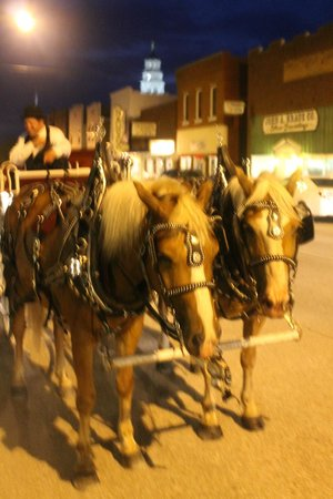 Hotel Nauvoo℠: Every dining guest was invited to a free carriage ride after dinner.