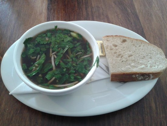 Home Restaurant: Lunch Time - Hot and Sour Soup with Crusty Bread
