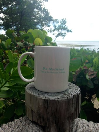 Little Palm Island Resort & Spa, A Noble House Resort: Enjoying morning tea on the terrace