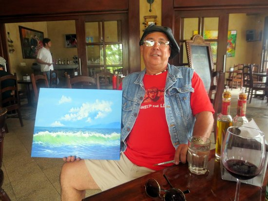 Don Chacho Grill: Local artist displays in restaurant.