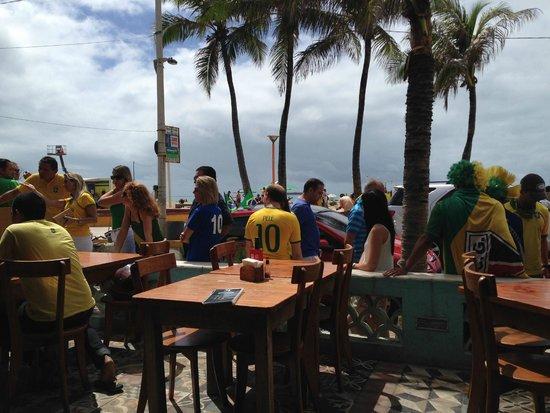 Boteco Praia : Overlooking boardwalk and beach