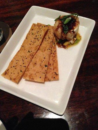 Tommy Bahama's Restaurant & Bar: Macadamia Nut crusted goat cheese!  Yumm!