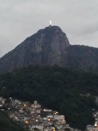 JW Marriott Hotel Rio de Janeiro: view of Christo from the roof of Marriott
