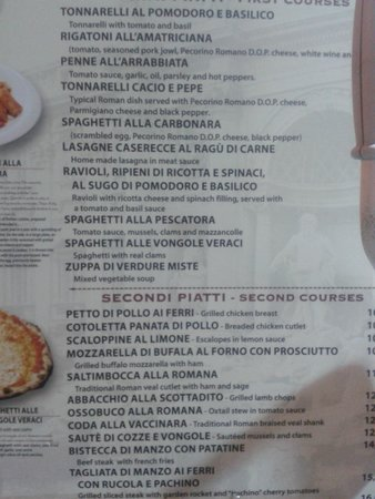 Osteria Allegro Pachino: menu w/ description
