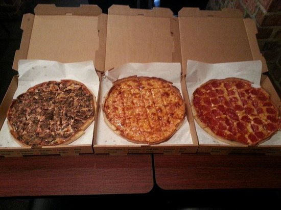 some pizza ready to go picture of bullseye pizza pub green bay