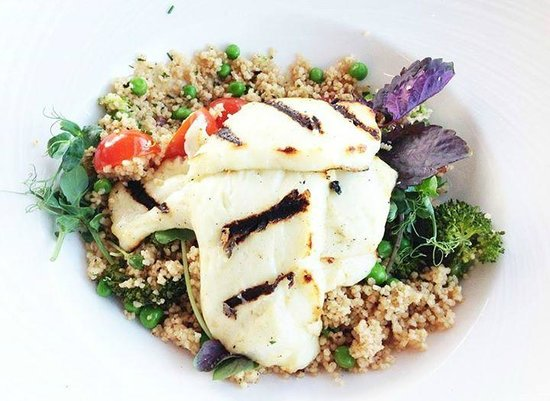 "Imperial Hotel: One of the special treats made by Peter ""Grilled halloumi cheese with spiced couscous"" salad."