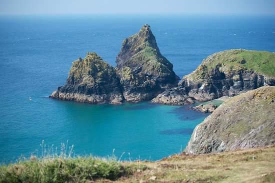 Lizard, UK: Looking back towards Kynance Cove