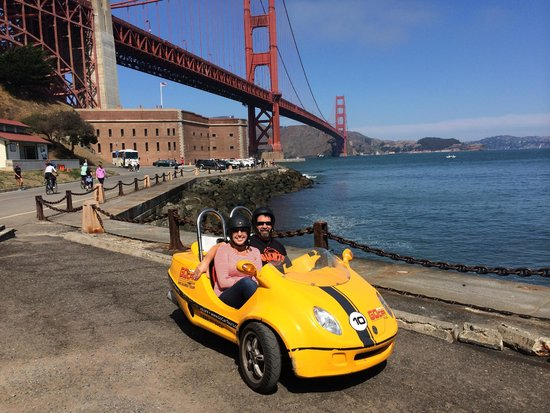 GoCar GPS Guided Tours : Stop at the Golden Gate Viewing area.
