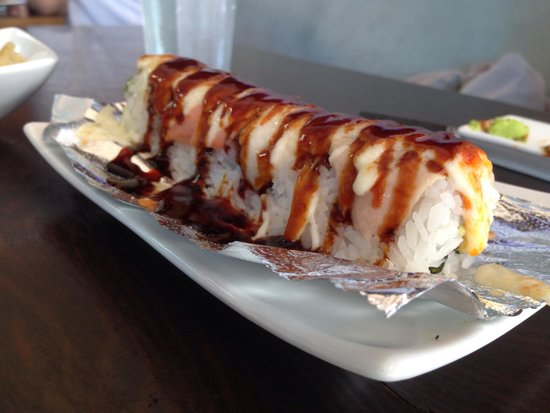 Zen Bistro - Millbrae: Melted Cheese Salmon roll!!!